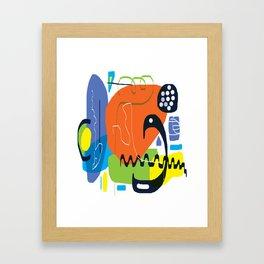 Funky Orange Composition Framed Art Print