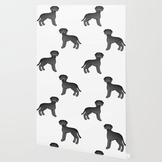Black Labrador Retriever Dog Cute Cartoon Illustration Wallpaper By Destei Society6