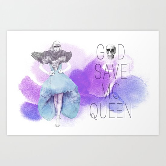 God Save McQueen Art Print