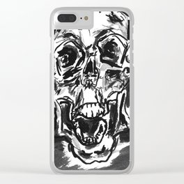 Shout skulls Clear iPhone Case