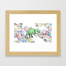 Hook Lizard Framed Art Print