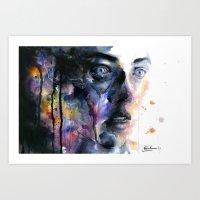 frozen Art Prints featuring Frozen by agnes-cecile