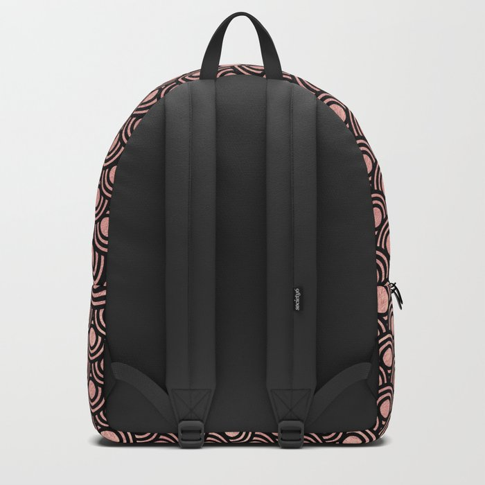 8071345d89 Mermaid Scales in Warm Rose Gold on Black Backpack by naturemagick ...