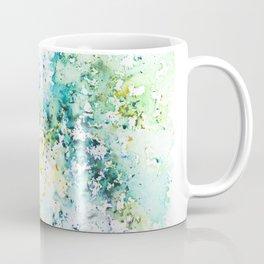 Green Watercolour Rain Coffee Mug