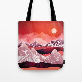 Scarlet Glow Tote Bag