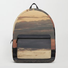 Painted sky over ten pound island light Backpack