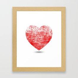 Grunge Heart Framed Art Print