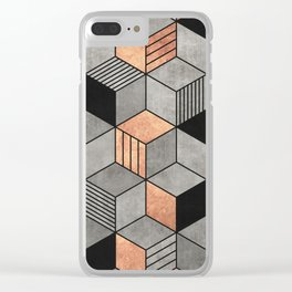 Concrete and Copper Cubes 2 Clear iPhone Case