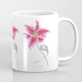 Lily 02 Botanical Flower * Pink Stargazer Rubrum Lily  Coffee Mug