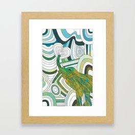 Textured Elepahnt Framed Art Print