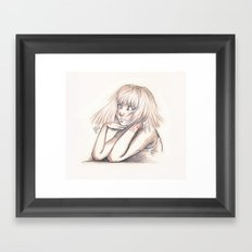 One, two, three, drink. Framed Art Print