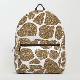 Glitter Giraffe Animal Print Pattern Backpack