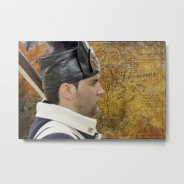 Historical french soldier Metal Print