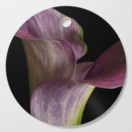 Purple Calla Lily Flowers Cutting Board