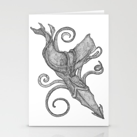 Whale Vs. Squid Stationery Cards