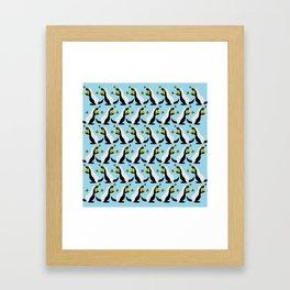 Honey Badgers Love Honey I Framed Art Print