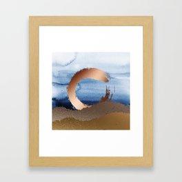 Inspiration: Gold, Copper And Blue Framed Art Print