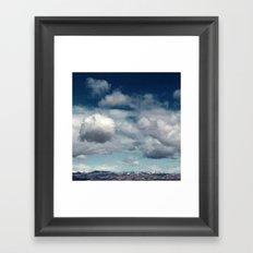 Clearly Cumulus Framed Art Print