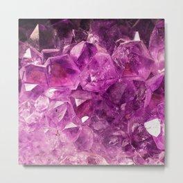 Amethyst Crystal Cave Metal Print