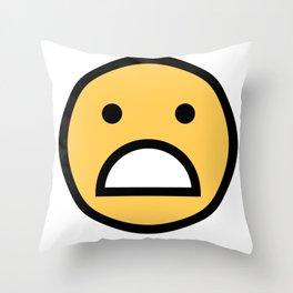 Smiley Face      Cute Big Mouth Unhappy Smiling Face Throw Pillow