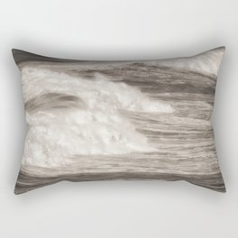 Destined Ocean waves breaking Rectangular Pillow