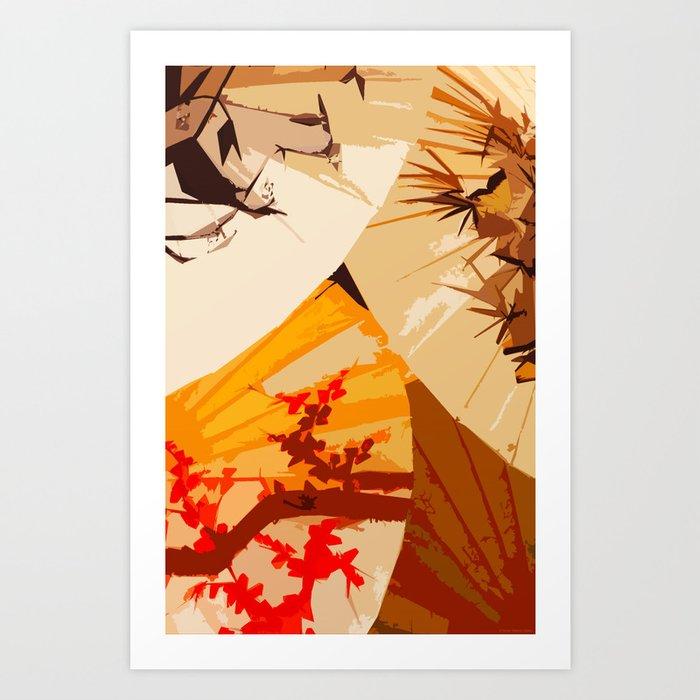 """""""Those Lovely Fans"""" Art Print"""