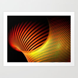 Fiery Motion and Elegance Art Print