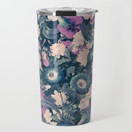Floral Nights Space Dreams Travel Mug