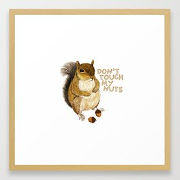 Irreverent Squirrel Framed Art Print