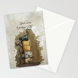 Schrödinger`s Cat Stationery Cards