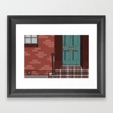 Green Door No. 6 Framed Art Print