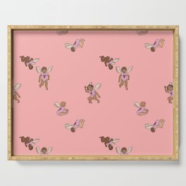 Cupid Legion Pattern- Pink Serving Tray