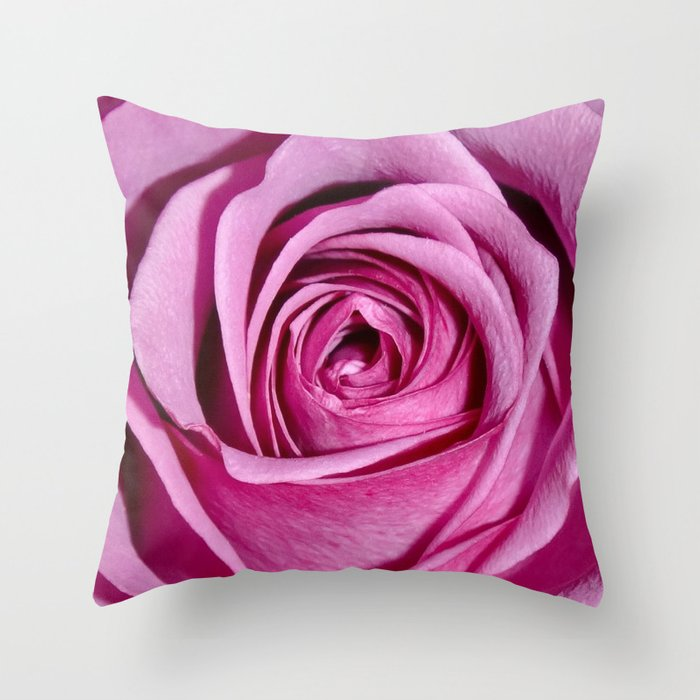 Lovely Rose - pink Throw Pillow