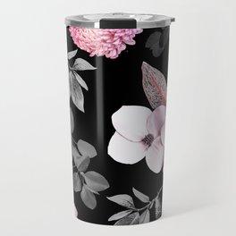 Night bloom - pink blush Travel Mug