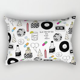 """La-Di-Da-Di"" Illustration Set Rectangular Pillow"