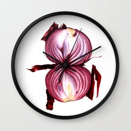 Red Onion Wall Clock