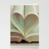 literary Stationery Cards featuring i heart books by shannonblue