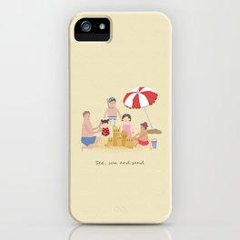 Sea, Sun and Sand iPhone Case