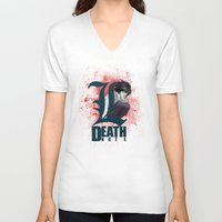 death note V-neck T-shirts featuring Death Note by feimyconcepts05
