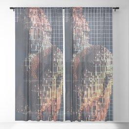 spartacus in voxel Sheer Curtain