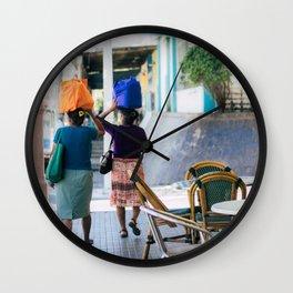 women in berlin Wall Clock