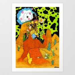 Risky Escape From The Exploding Maelstrom Art Print