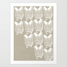 Polka Dot Sweater Art Print
