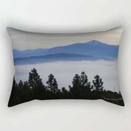 Another foggy morning in the mountains... Rectangular Pillow