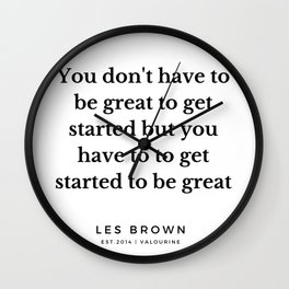 25  |  Les Brown  Quotes | 190824 Wall Clock