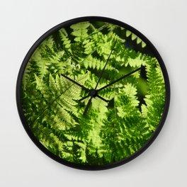 Fern Light Wall Clock