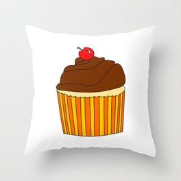 I Love Cupcakes Throw Pillow