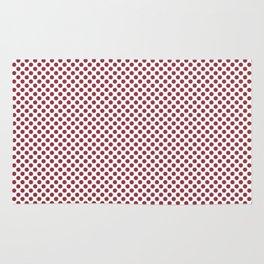 Deep Garnet Polka Dots Rug