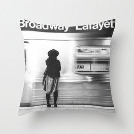 New York MTA Subway Throw Pillow