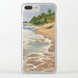 Lake Michigan Summer Clear iPhone Case